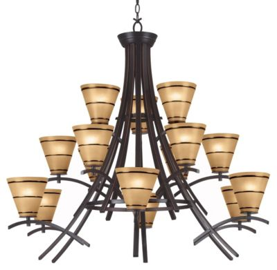 Wright 15-Light Chandelier - Oil Rubbed Bronze