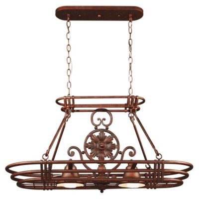 Dorada 2-Light Pot Rack - Gilded Copper