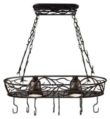 Twigs 2-Light Pot Rack