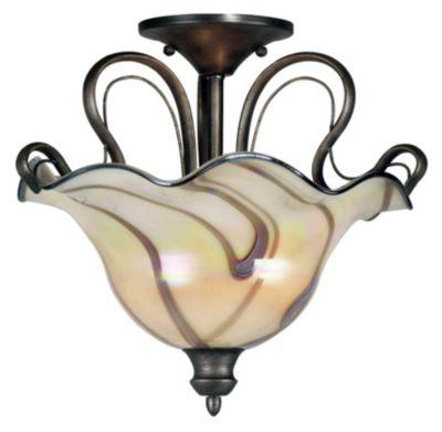 Inverness 2-Light Semi-Flush - Tuscan Silver