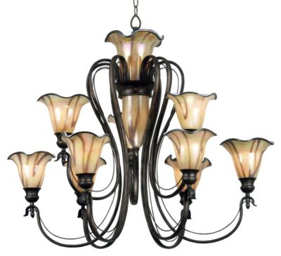 Inverness 12-Light Chandelier - Tuscan Silver