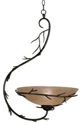 Twigs 1-Light Pendant - Bronze