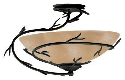 Twigs 1-Light Semi-Flush - Bronze