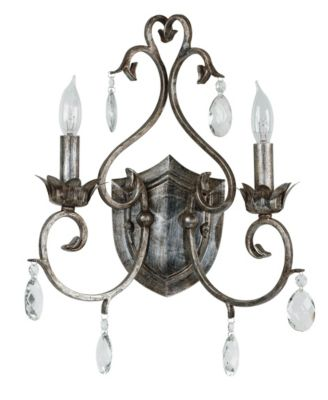 Antoinette 2-Light Wall Sconce - Weathered Silver