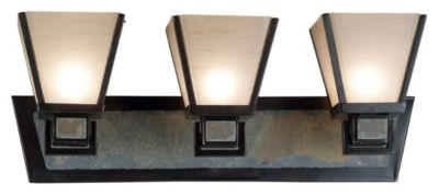 Clean Slate 3-Light Vanity - Oil Rubbed Bronze