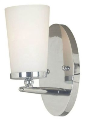 Aerial 1-Light Bath/Wall Sconce - Polished Nickel