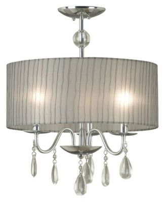 Arpeggio 3-Light Convertible Semi-Flush Mount/Pendant - Chrome