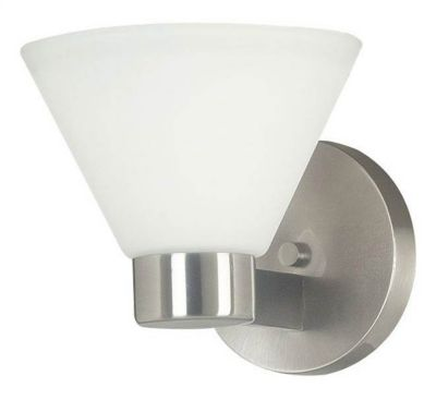 Maxwell 1-Light Bath/Wall Sconce - Brushed Steel