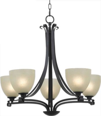 Willoughby 5-Light Chandelier - Forged Graphite