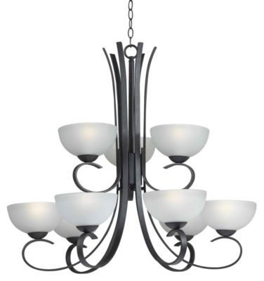Maple 9-Light Chandelier - Forged Graphite