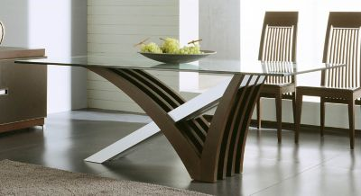 Mirage Clear Glass Table
