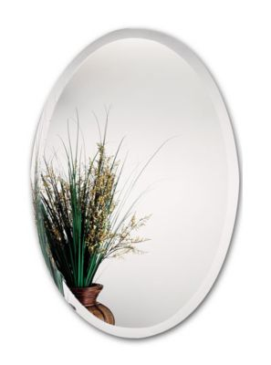 Standard Oval Beveled Mirror