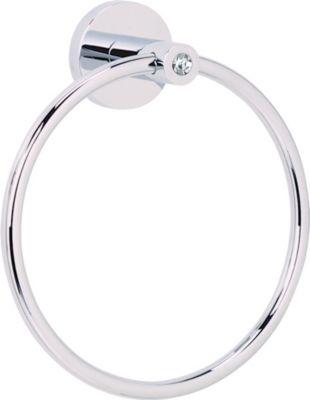 Contemporary I Crystal Towel Ring