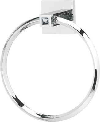 Contemporary II Crystal Towel Ring