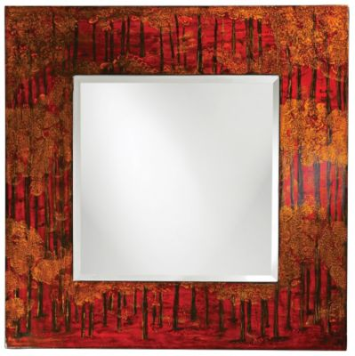 Mia Red Square Mirror