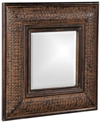 Grant Antique Brown Square Mirror
