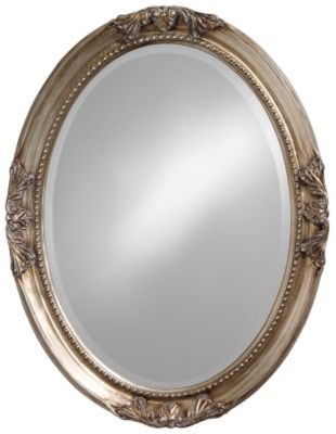 Queen Ann Antique Silver Leaf Mirror