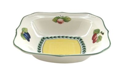 French Garden Fleurence Square Individual Salad Bowl