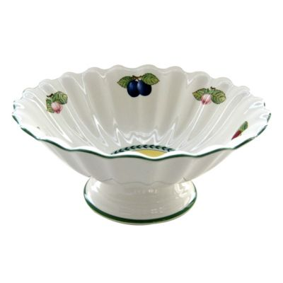 French Garden Fleurence Footed Fruit Bowl