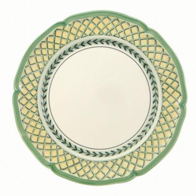 French Garden Orange Dinner Plate