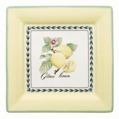 French Garden Macon Square Lemon Dinner Plate