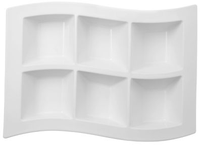 New Wave 6-Part Divided Tray