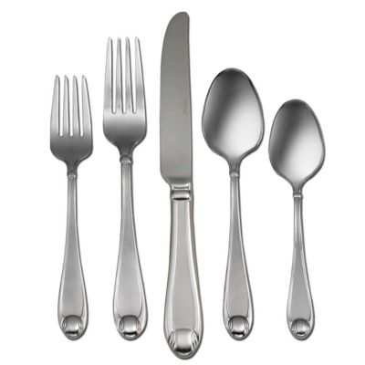 Satin Garnet 65-Piece Flatware Set-Service for 12