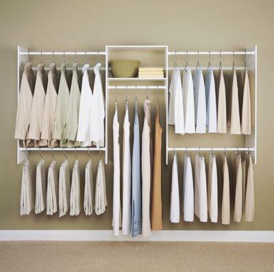 4' to 8' Basic Starter Closet Kit - White