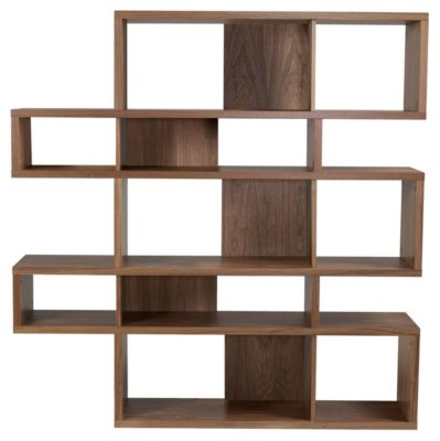 London Composition 002 Shelving Unit - Walnut/Walnut