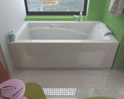 Optik 6636 Acrylic Bathtub with No Tiling Flange