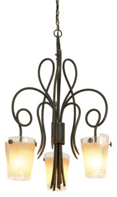 Tribecca 3-Light Dinette Chandelier - Antique Copper