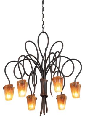 Tribecca 6-Light Chandelier - Antique Copper