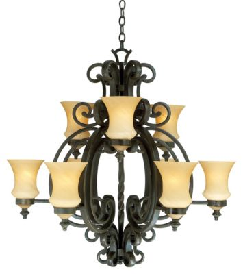 Hamilton 9-Light Chandelier - Havana