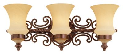 Hamilton 3-Light Bath Fixture - Copper Claret