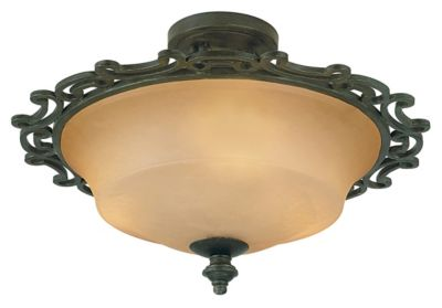 Hamilton 3-Light Semi-Flush - Havana