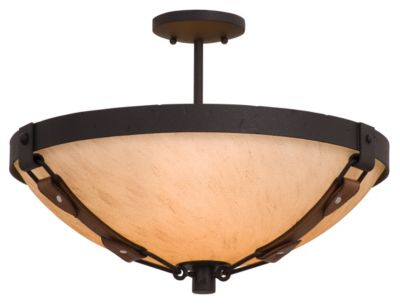 Rodeo Drive 3-Light Semi-Flush - Black