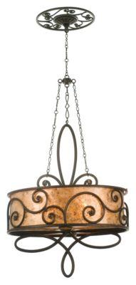 Windsor 4-Light Oval Chandelier - Antique Copper
