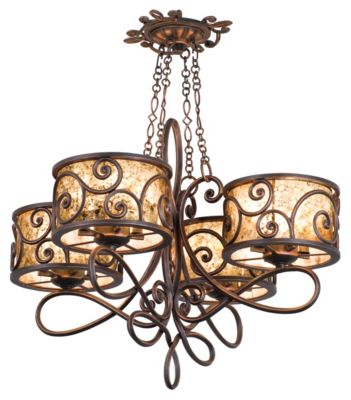 Windsor 16-Light Chandelier - Antique Copper