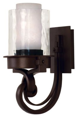 Newport 1-Light Bath Sconce - Satin Bronze