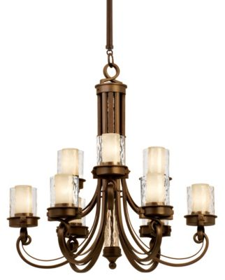 Newport 9-Light Chandelier - Satin Bronze