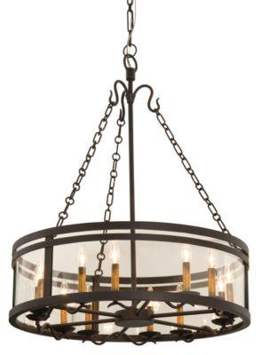 Morris 12-Light Chandelier - Bronze