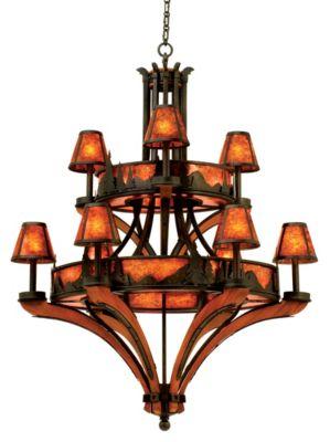 Aspen 18-Light Chandelier - Natural Iron