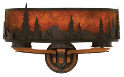 Aspen 3-Light Wall Sconce - Natural Iron