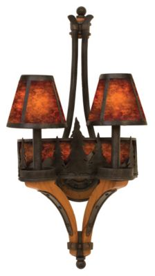 Aspen 2-Light Wall Sconce - Natural Iron