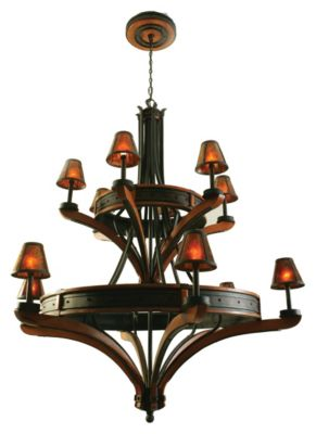 Aspen 12-Light Chandelier - Natural Iron