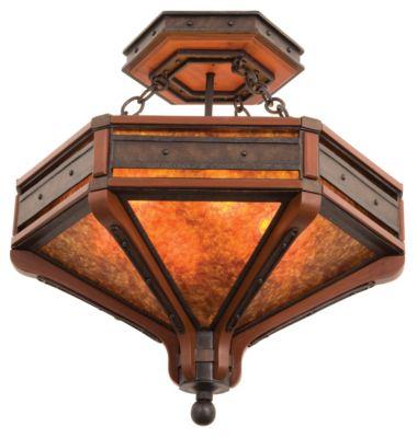 Aspen 6-Light Semi-Flush - Natural Iron