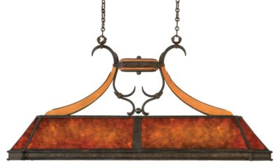 Aspen 5-Light Island Pendant - Natural Iron