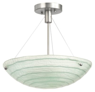 Aqueous 3-Light Semi-Flush - Satin Nickel