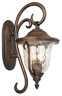 Santa Barbara 3-Light Outdoor Wall Lantern - Burnished Bronze