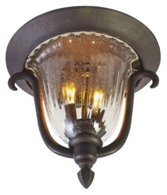 Santa Barbara 2-Light Outdoor Flush Mount - Textured Matte Black
